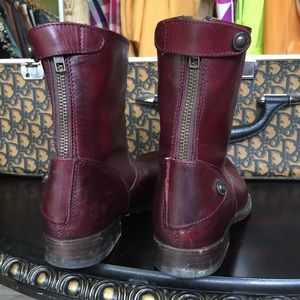 Frye Shoes - Frye Plum Leather Boots